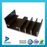 Profil enduit d'aluminium de tissu pour rideaux de guichet de poudre de bonne qualité