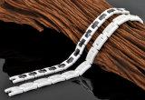 Bracelet en céramique magnétique de couleur blanche noire pour la mode avec du ce