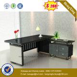 جديد تصميم أسود زجاجيّة علبيّة [ستيل فرم] مكتب طاولة ([نس-غد003])