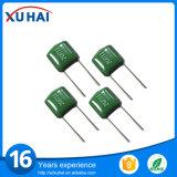 Capacitor do poliéster do verde do componente eletrônico
