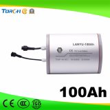 bateria de lítio 11.1V 100ah solar gama alta usada para a iluminação de rua solar