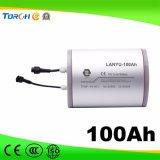 batería de litio solar de gama alta 11.1V 100ah usada para el alumbrado público solar