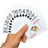 Playingcards plástico en palabras enormes