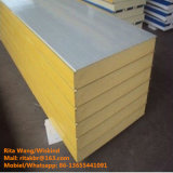 Hot Heat Isolation Rock Wool / EPS / PU Sandwich Panel