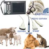 Varredor Handheld veterinário da máquina do ultra-som com a caixa livre de Alumium do saco impermeável animal Micro-Convexo do Ce da ponta de prova