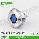 indicatore luminoso di indicatore terminale IP67 di Pin del tondo piano di 25mm