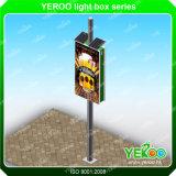 Sinais de Pólo da rua do Signage- de Pólo da lâmpada da caixa leve do borne da lâmpada