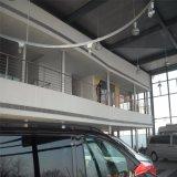 Edificio de dos pisos del salón de muestras del coche del marco de acero con la oficina