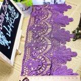 Merletto di nylon di immaginazione della guarnizione del ricamo del poliestere del merletto del commercio all'ingrosso 16cm della fabbrica del ricamo di riserva di larghezza per l'accessorio degli indumenti & tessile & tende domestiche (BS1067)