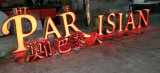 Letras 3D plásticas acrílicas iluminadas de construção da loja de varejo