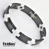 Bracelete cerâmico da função da saúde do projeto dos pares com Hematite (10057)