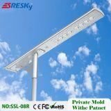 Indicatore luminoso di via solare Integrated superiore del LED con la casa del sensore di movimento che illumina la lampada da parete esterna IP65
