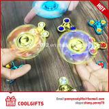 Hilandero de giro de la nueva del diseño del metal de la persona agitada mano cristalina colorida del hilandero