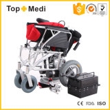 Topmedi a handicapé les prix pliables en aluminium de fauteuil roulant électrique de pouvoir de poids léger