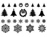 Tatuaje temporal impermeable de la carrocería de la etiqueta engomada del tatuaje de la Navidad del copo de nieve