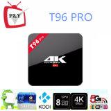 WiFi duel 1000m d'Amlogic S912 3G/16g Kodi 17.0 privés les plus neufs de l'androïde 6.0 de cadre du faisceau TV du modèle T96 PRO Octa
