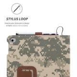 Cubierta militar de la caja de la fibra de Nubuck del soporte del cuero de la caja de los accesorios del vector