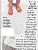 Пятна Resitant Loofa циновки ванны циновки половик ливня выскальзования Non