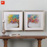 تجريديّ [هندمد] جدار فنية زاهية شجرة [أيل بينتينغ]