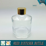 250ml svuotano la bottiglia a lamella di vetro del diffusore con la protezione dell'alluminio dell'oro