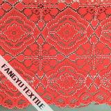 Tela de nylon do laço do algodão elegante do projeto