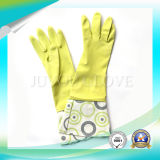 Luvas protetoras do látex do trabalho da limpeza da segurança com boa qualidade