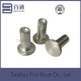 6X18mm flacher fester Aluminiumhauptniet