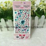 스티커 번쩍이는 다이아몬드 주옥 DIY 이동 전화 접착성 수정같은 모조 다이아몬드 스티커 Scrapbooking 스티커 (TP 둥근 수정같은 스티커)