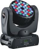 Luz principal movente da lavagem do feixe do diodo emissor de luz de RGBW