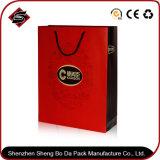 Saco de papel personalizado para compras em cores com saco de presente