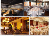 Гостиница высокой ранга штабелируя алюминиевые стулы обеда банкета