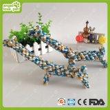 La cuerda del algodón del animal doméstico juega el producto del animal doméstico de la jirafa del trabajo hecho a mano