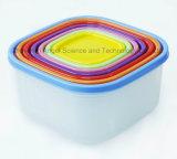Crisper di plastica promozionale Fb01 stabilito del frigorifero del contenitore di alimento 7PC