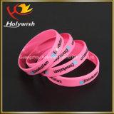 Fördernder kundenspezifischer Silikonwristband-Armband-China-Lieferant