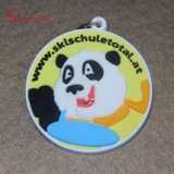 Kundenspezifischer Großverkauf 3D Belüftung-Panda-Schlüsselkette