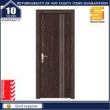 Porte d'entrée en bois intérieure de Chambre de la plus défunte de modèle de PVC porte de forces de défense principale
