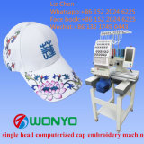 단 하나 맨 위 상업적인 자수 기계 모자, t-셔츠는 의복 단화 자수 가격을 완료했다