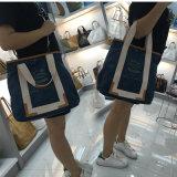 Sac d'épaule lavé bleu-foncé de dames de papier d'emballage (16A081-4)