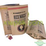 Bolsa de papel de Kraft de la categoría alimenticia para el bolso de empaquetado del polvo del té de la leche