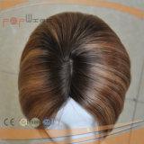 Hochwertige heiße verkaufende kurze blonde Silk Spitzenperücke auf Verkauf