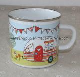 Hot Sale Enamel Mug com mão de esmalte