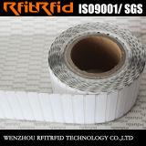 Etiqueta pasiva de la frecuencia ultraelevada RFID del rango largo del papel termal para el activo