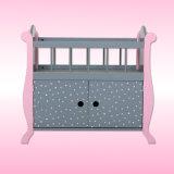 Nueva base con la cabina para la muchacha, base de madera de la muñeca 2017 de la muñeca de los cabritos
