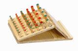 Clavija de madera de la cuesta ajustable que inserta a tarjeta