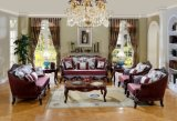 Il sofà americano del tessuto ha impostato con il blocco per grafici di legno per il salone
