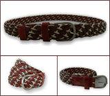 Cinghia Braided del cuoio genuino di colore rosso violaceo