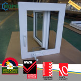 Finestra di vetro della Camera del PVC di uragano della manovella moderna di effetto