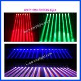 Luz do feixe 8PCS*10W RGBW do diodo emissor de luz do DJ