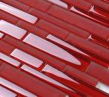 Red de cuadrados de color Azulejos de la piscina de cristal del mosaico con el precio de fábrica