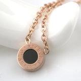 نمو مدلّاة مجوهرات نساء [ستينلسّ ستيل] عقد مع قشرة قذيفة سوداء